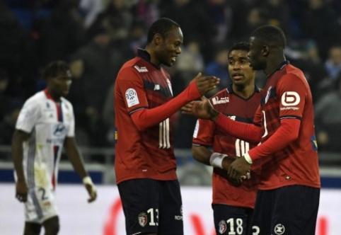 """Ligue 1: """"Lyon"""" pralaimėjo """"Lille"""", """"Bordeaux"""" kyla į šeštąją vietą (VIDEO)"""