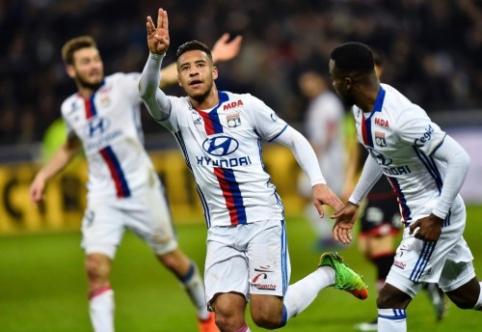 """""""Lyon"""" iškovojo svarbius tris taškus, PSG sužaidė lygiosiomis (VIDEO)"""