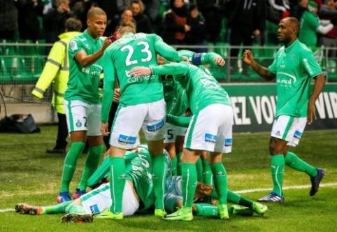 """Ligue 1: """"Saint-Etienne"""" įveikė """"Lyon"""" bei priartėjo iki vieno taško (VIDEO)"""