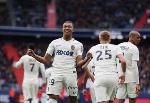 """K.Mbappe dar kartą atvedė """"Monaco"""" į pergalę, PSG įveikė """"Lyon"""" (VIDEO)"""