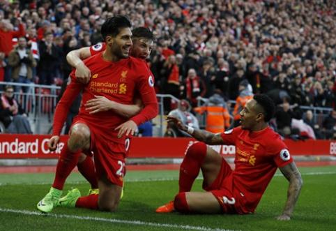 """""""Liverpool"""" iškovojo sunkią pergalę prieš """"Burnley"""" (VIDEO)"""
