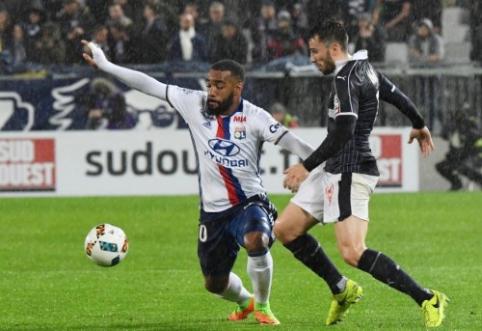 """Ligue 1"" turo starte ""Lyon"" išplėšė lygiąsias prieš ""Bordeaux"" (VIDEO)"