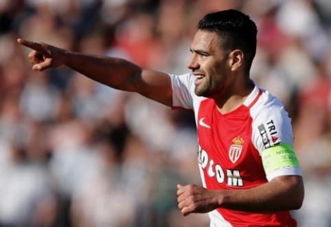 """R. Falcao išplėšė pergalę """"Monaco"""", """"Lyon"""" klubą sutriuškino """"Lorient"""" (VIDEO)"""