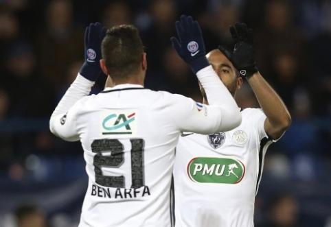 """""""Lyon"""" pasiekė pergalę """"Ligue 1"""", o PSG ir """"Bordeaux"""" pateko į taurės pusfinalį (VIDEO)"""