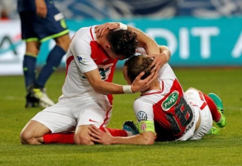 """Į Prancūzijos taurės pusfinalį pateko """"Guingamp"""" ir """"Monaco"""""""