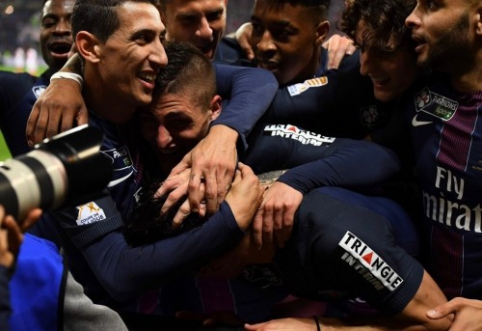 """PSG užtikrintai įveikė """"Monaco"""" bei laimėjo """"Coupe de la Ligue"""" (VIDEO)"""
