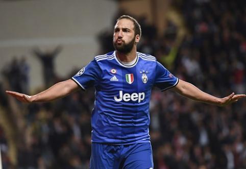 """G. Higuaino dublis nulėmė """"Juventus"""" pergalę Monake (FOTO, VIDEO)"""