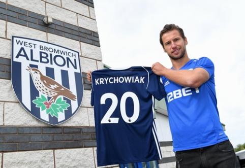 """Oficialu: """"West Brom"""" stiprinasi Lenkijos rinktinės nariu G. Krychowiaku"""
