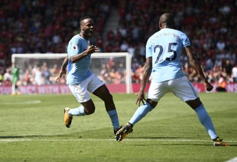 """R. Sterlingas atvedė """"Man City"""" į dramatišką pergalę prieš """"Bournemouth"""" (VIDEO)"""