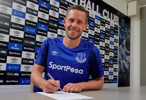 """Oficialu: G. Sigurdssonas tapo brangiausiu """"Everton"""" pirkiniu klubo istorijoje"""