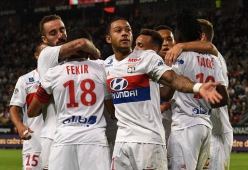 """""""Ligue 1"""": """"Nice"""" patyrė antrą nesėkmę, A. Lacazette'o pamaina toliau siaučia (VIDEO)"""