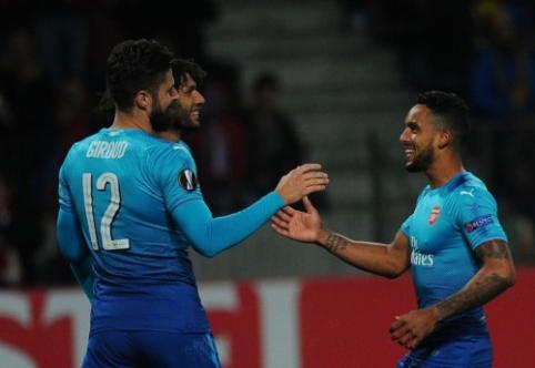 """EL: """"Arsenal"""" laimėjo Baltarusijoje, """"Milan"""" palaužė """"Rijeka"""", """"Everton"""" neįveikė Kipro klubo (VIDEO)"""