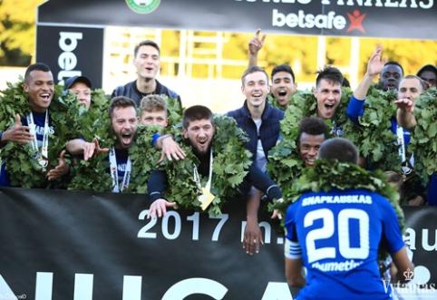 """Pergalingas """"Stumbro"""" įvartis LFF taurės finale – galimai iš nuošalės (VIDEO)"""