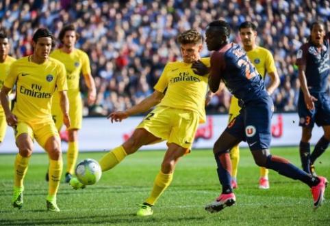 """Be Neymaro likęs PSG neįveikė """"Montpellier"""", """"Lyon"""" prarado taškus prieš """"Dijon"""" (VIDEO)"""