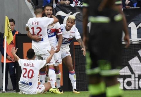 """""""Saint-Etienne"""" sužaidė lygiosiomis, """"Lyon"""" šventė pergalę, o """"Marseille"""" pralaimėjo (VIDEO)"""