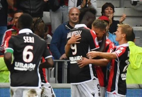 """Rekordinę """"Monaco"""" pergalių seriją nutraukė M. Balotelli vedamas """"Nice"""" (VIDEO)"""