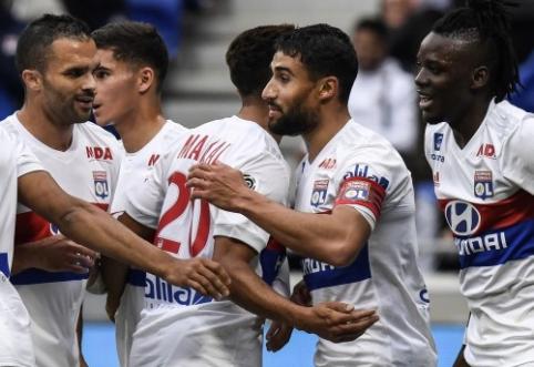 """""""Lyon"""" ir """"Marseille"""" iškovojo pergales, """"Saint-Etienne"""" sužaidė lygiosiomis (VIDEO)"""