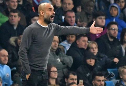 Po vos išplėštos pergalės P. Guardiola skundėsi kamuoliu