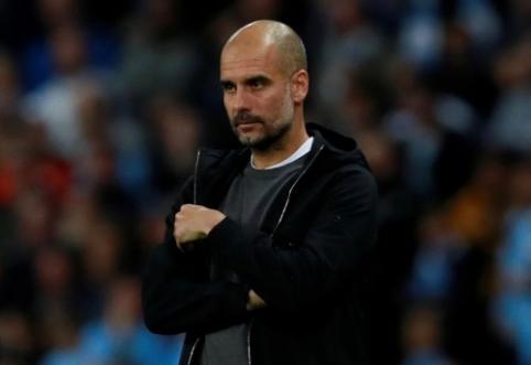 """P. Guardiola """"Man City"""" pergalę skyrė įkalintiems Katalonijos lyderiams"""