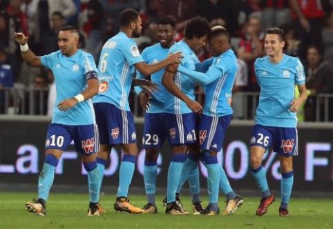 """""""Saint-Etienne"""" pralaimėjo, """"Lyon"""" sužaidė lygiosiomis, o """"Marseille"""" palaužė """"Nice"""" (VIDEO)"""