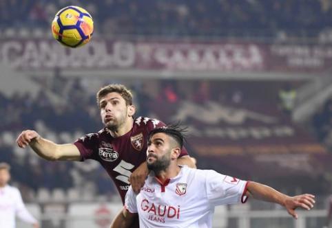 """Į kitą Italijos taurės etapą žengė """"Sassuolo"""", """"Hellas"""" ir """"Torino"""""""