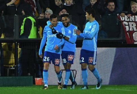 """Prancūzijoje - nerealizuotas E. Cavani baudinys, PSG pergalė ir """"Marseille"""" kilimas (VIDEO)"""