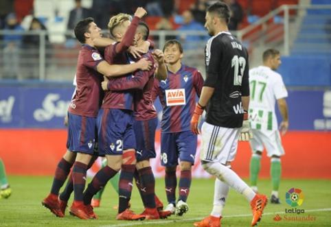 """""""La Liga"""": """"Eibar"""" namuose pažemino """"Real Betis"""" vienuolikę"""