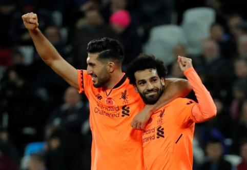 "M. Salah vedamas ""Liverpool"" susidorojo su ""West Ham"" (VIDEO)"