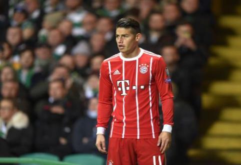 """J. Rodriguezas: esu labai laimingas """"Bayern"""" komandoje"""