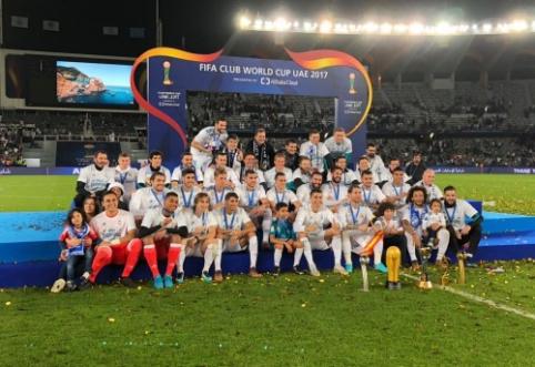 """Pergalė pasaulio klubų taurėje užbaigė rekordinius """"Real"""" metus"""
