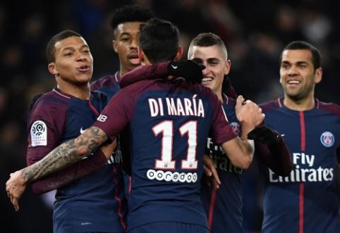 """PSG į pergalę atvedė A. Di Maria ir K. Mbappe, """"Monaco"""" panaikino 2 įvarčių deficitą (VIDEO)"""
