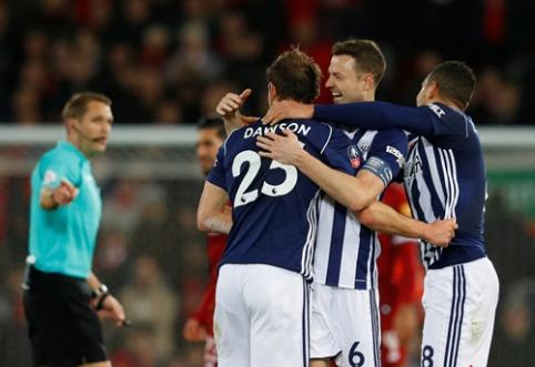 """FA taurė: """"West Brom"""" eliminavo """"Liverpool"""" klubą, """"Tottenham"""" dar turės pakovoti (VIDEO)"""