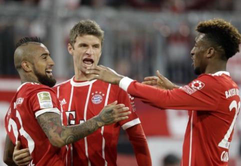 """""""Bayern"""" panaikino dviejų įvarčių deficitą, """"Borussia"""" nelaimėjo ir su P. Aubameyangu (VIDEO)"""
