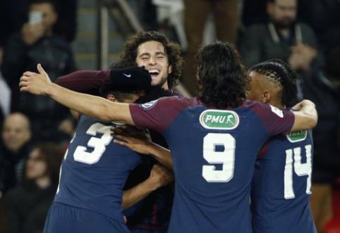 """PSG bei """"Marseille"""" taurėje laimėjo, """"Lyon"""" palaužė """"Monaco"""" (VIDEO)"""