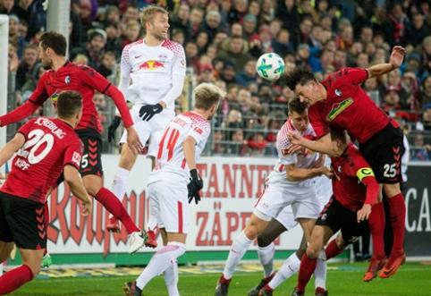 """""""Leipzig"""" patyrė netikėtą nesėkmę, """"Bayer"""" kyla į antrąją poziciją"""