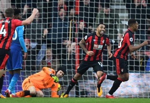 """""""Bournemouth"""" per keturias minutes parbloškė be lyderio likusį """"Arsenal"""" (VIDEO)"""
