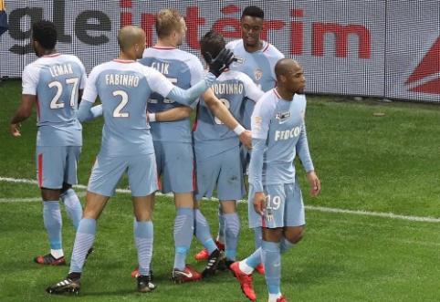 """""""Monaco"""" įveikė """"Nice"""" bei pateko į Prancūzijos lygos taurės pusfinalį (VIDEO)"""