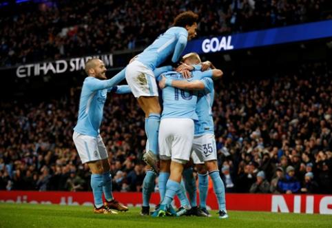 "FA taurė: ""Man City"" sutriuškino ""Burnley"", ""Chelsea"" nepralaužė ""Norwich"" gynybos VIDEO)"