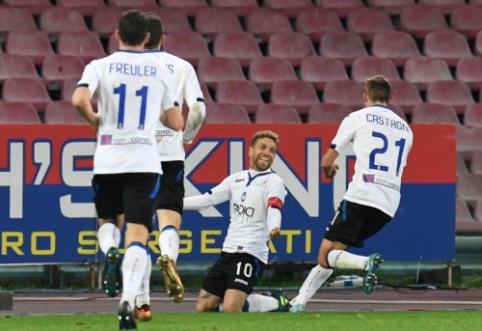 """""""Atalanta"""" išmetė """"Napoli"""" iš Italijos taurės (VIDEO)"""