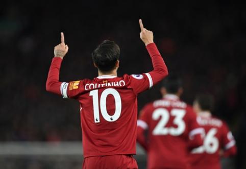 """""""Liverpool"""" klube daugiau žaisti nebenorintis P. Coutinho - viena koja """"Barcoje"""""""