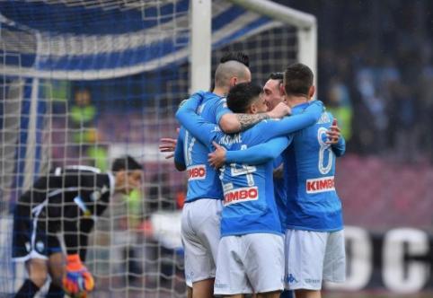 """Italijoje pergales iškovojo """"Juventus"""", """"Napoli"""" ir """"Milan"""" (VIDEO)"""