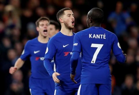 """E. Hazardo vedamas """"Chelsea"""" nutraukė nesėkmių seriją """"Premier"""" lygoje (VIDEO)"""