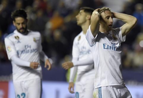 """Dar vienas smūgis """"Real"""" ekipai: """"Levante"""" rungtynių pabaigoje išplėšė lygiąsias (VIDEO)"""