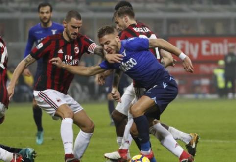 """Pirmoji """"Coppa Italia"""" pusfinalio akistata tarp """"Milan"""" ir """"Lazio"""" baigėsi lygiosiomis (VIDEO)"""