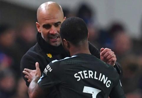 P. Guardiola: labai svarbu išlaikyti Sterlingą