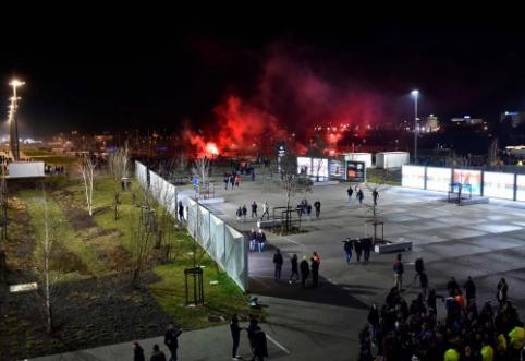 UEFA paskelbė kaltinimus agresyviai palaikomiems Prancūzijos klubams