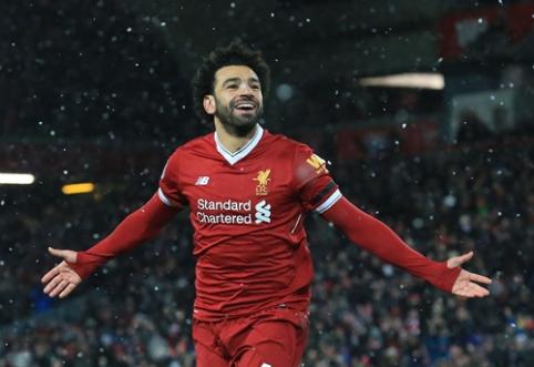 """Neįtikėtinai žaidęs M. Salah pasižymėjo """"pokeriu"""" ir atvedė """"Liverpool"""" į triuškinančią pergalę (VIDEO)"""