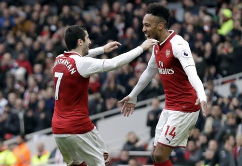 """""""Arsenal"""" nutraukė trijų pralaimėjimą seriją, be H. Kane'o likęs """"Tottenham"""" atsitiesė prieš """"Bournemouth"""" (VIDEO)"""
