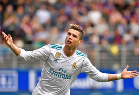 """C. Ronaldo dublis atvedė """"Real"""" į pergalę prieš """"Eibar"""", """"Barca"""" neturėjo sunkumų Malagoje (VIDEO)"""