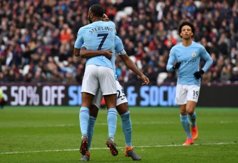 ''Man City'' užtikrintai susitvarkė su namuose žaidusia ''West Ham'' ekipa (VIDEO)